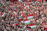 Des supporteurs de l'équipe de football hongroise, au stade Ferenc-Puskas, à Budapest, le 19juin 2021.