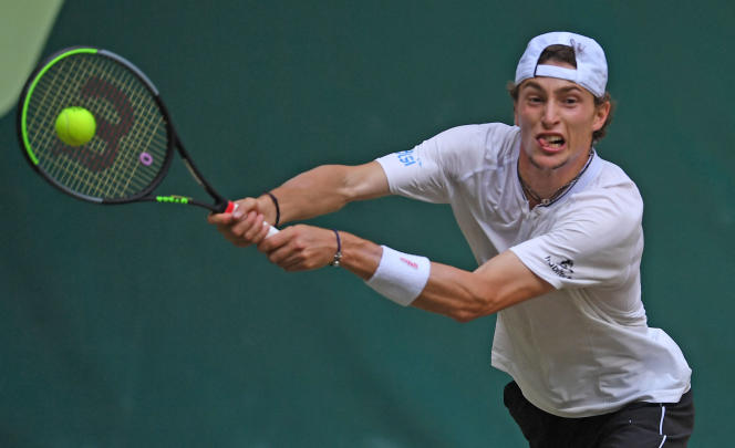 Ugo Humbert a remporté la finale à Halle contre Andrey Rublev, le 20 juin.