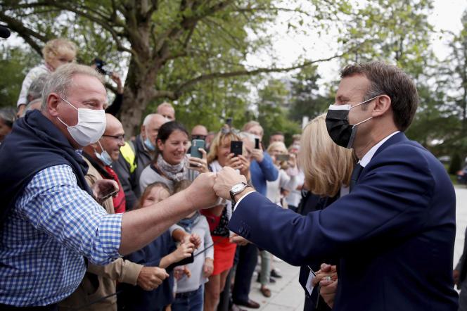 Emmanuel Macron, au Touquet, le 20 juin 2021.