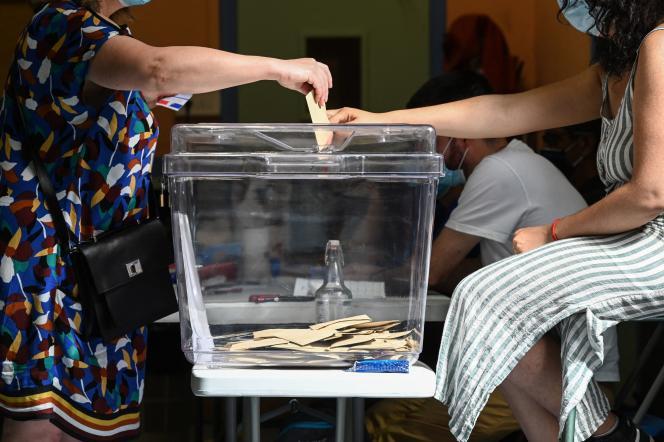 Vote à Lyon le 20 juin 2021 pour les élections régionales.