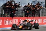 Max Verstappen sur la ligne d'arrivée le 20 juin au Grand Prix de France de formule 1.