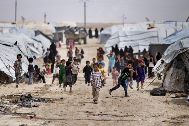 Au camp d'Al-Hol où sont détenues des familles de membres de l'organisation Etat islamique, en Syrie, le 1er mai 2021.