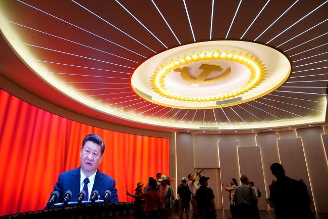 Le président Xi Jinping, célèbre le centenaire du Parti communiste chinois, à Shanghaï, le 4 juin 2021.