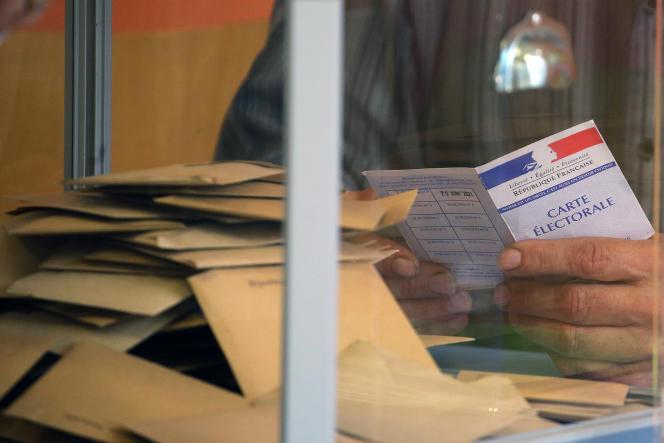 Vote pour les élections régionales et départementales, le 20 juin 2021.