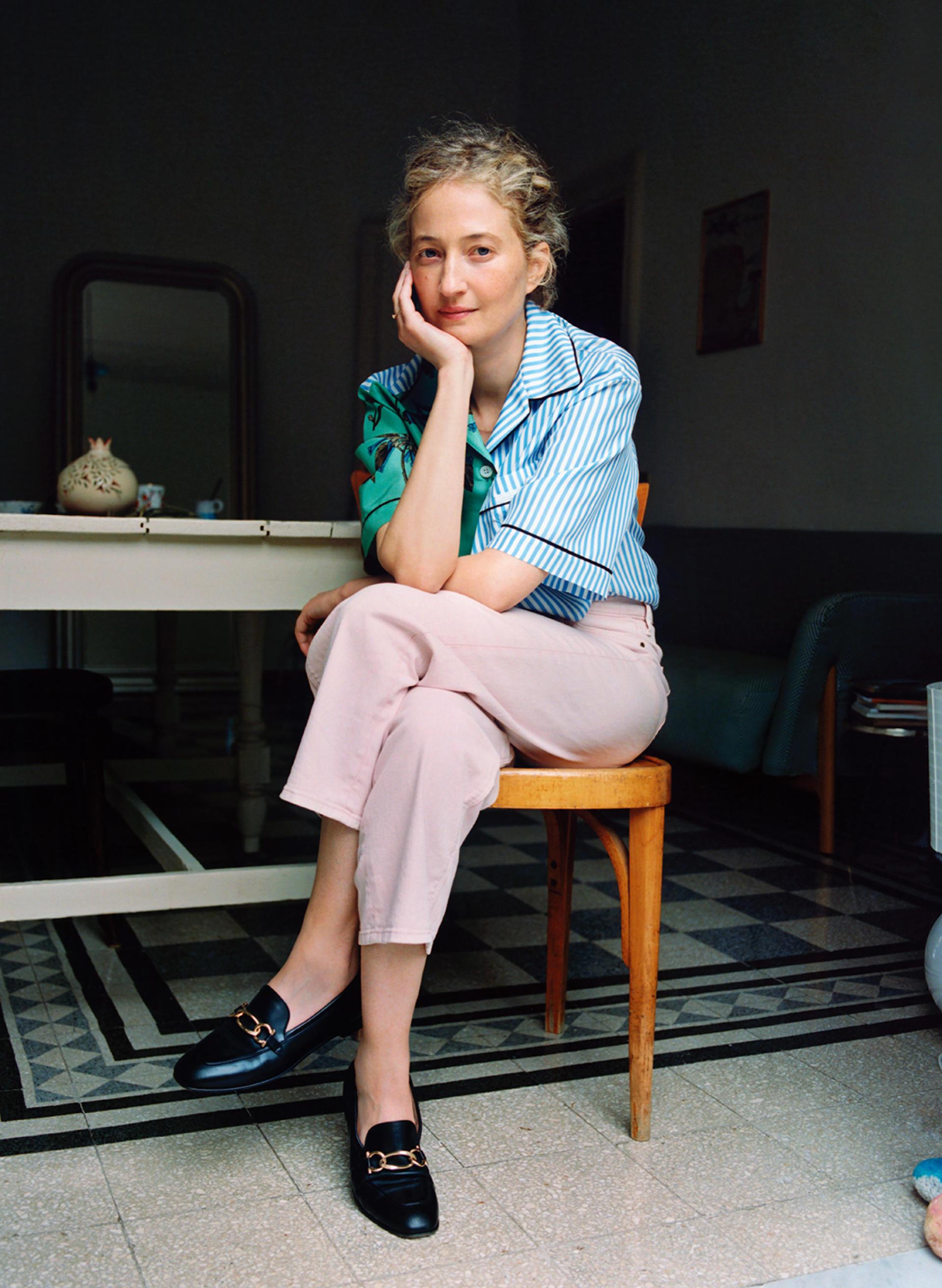 La comédienne italienne Alba Rohrwacher, chez elle à Rome, le 8juin 2021.