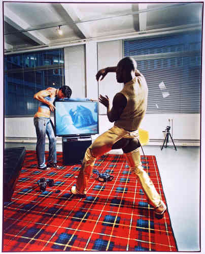 Sans titre, série Techno, 1996, couleur, 49x39 cm.