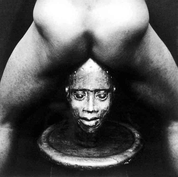 Bronze Head, 1989, argentique N&B, 25x20 cm.