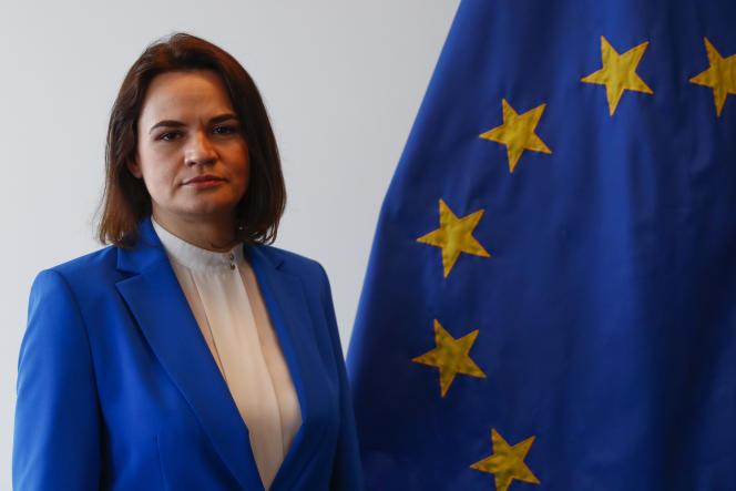 Svetlana Tsikhanovskaïa στο Λουξεμβούργο, 21 Ιουνίου 2021.