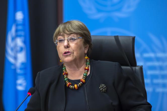 Wysoki Komisarz Narodów Zjednoczonych ds. Praw Człowieka Michelle Bachelet w Genewie, Szwajcaria, 9 grudnia 2020 r.