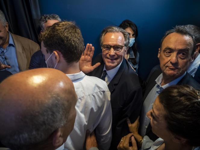 Renaud Muselier (LR) après les résultats du premier tour aux élections régionales en PACA, dimanche 20 juin 2021.