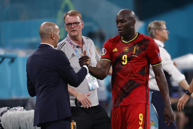 Mission accomplie pour le sélectionneur de la Belgique, Roberto Martinez, et son attaquant Romelu Lukaku.
