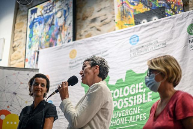 Najat Vallaud-Belkacem, Fabienne Grebert et Cecile Cukierman, le 21 juin 2021.