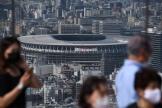 Vue du stade olympique national de Tokyo, le 21 juin 2021.