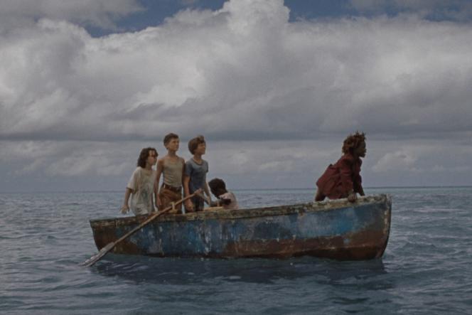 De gauche à droite : Devin France, Gavin Naquin, Gage Naquin, Romyri Ross et Yashua Mack dans le film «Wendy»de Benh Zeitlin.