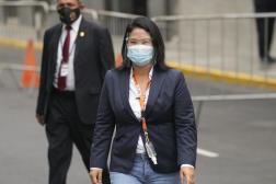 Keiko Fujimori à Lima, au Pérou, lundi 21 juin 2021.
