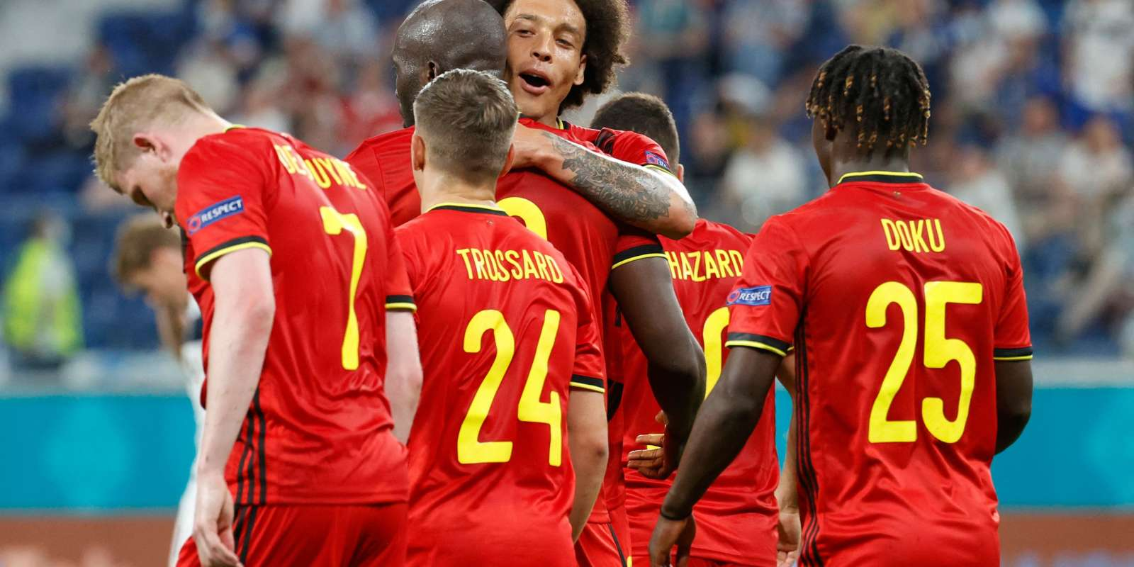 La joie des Belges contre la Finlande.