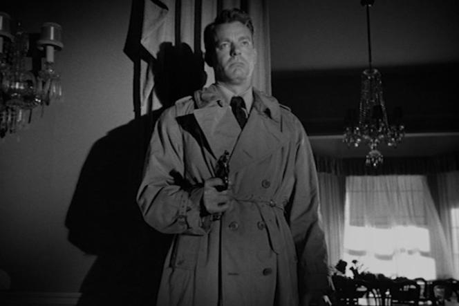 Joe Sullivan (Dennis O'Keefe) dans«Marché de brutes», film américain d'Anthony Mann.