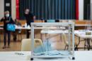 © Julien Muguet pour Le Monde, Marchenoir, France le 20 juin 2021 - Ici une urne pour les elections departementales dans le bureau de vote de Marchenoir.
