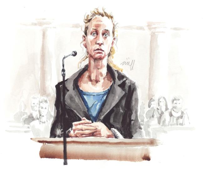 Valérie Bacot, à la cour d'assises de Saône-et-Loire, le 21 juin 2021.