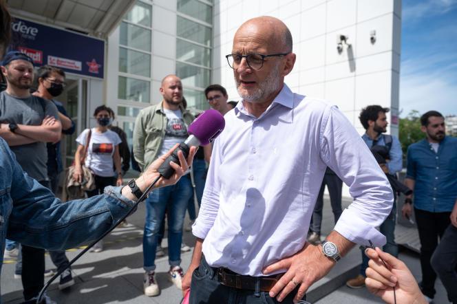 Olivier Samain, délégué SNJ à Europe 1, le 21 juin.