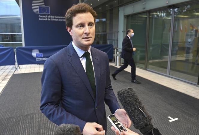 Le secrétaire d'Etat français chargé des affaires européennes, Clément Beaune, au Luxembourg le 22 juin 2021.