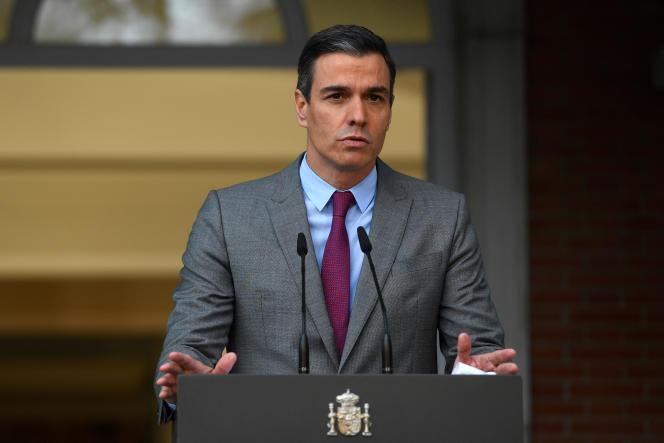 Le président socialiste du gouvernement espagnol, Pedro Sanchez, àMadrid, le 22 juin 2021.
