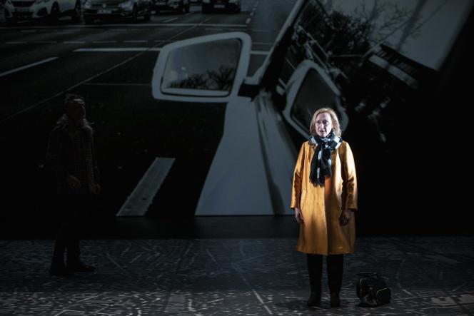 Hélène Alexandridis dans «Berlin mon garçon», de Marie NDiaye, mis en scène par Stanislas Nordey.