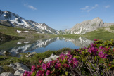 Le lac Jovet dans la réserve naturelle nationale des Contamines-Montjoie.