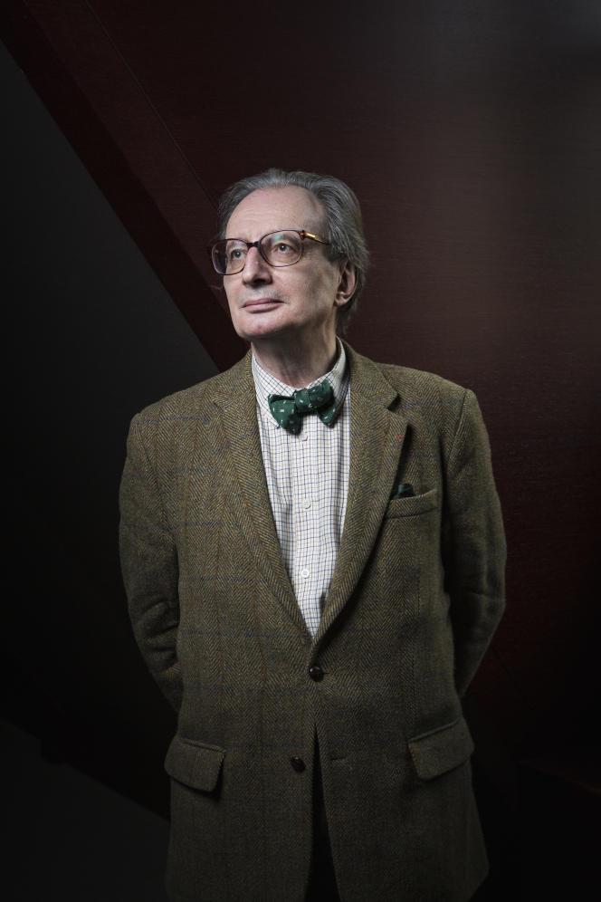 Le philosophe Jean-Luc Marion, au Collège des Bernardins, à Paris, en mars 2017.