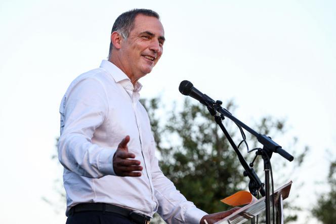Gilles Simeoni, président de l'exécutif corse et candidat à sa réélection, à Ajaccio, le 13 juin.