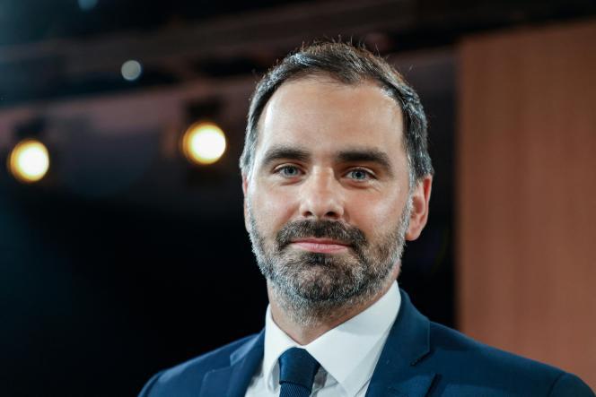 Laurent Saint-Martin, candidat LRM aux régionales en Ile-de-France, le 14 juin 2021, après un débat télévisé à Paris.