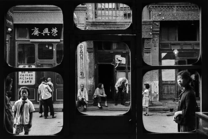 Les fenêtres d'antiquaire Rue Liulichang, Pékin, Chine (1965).