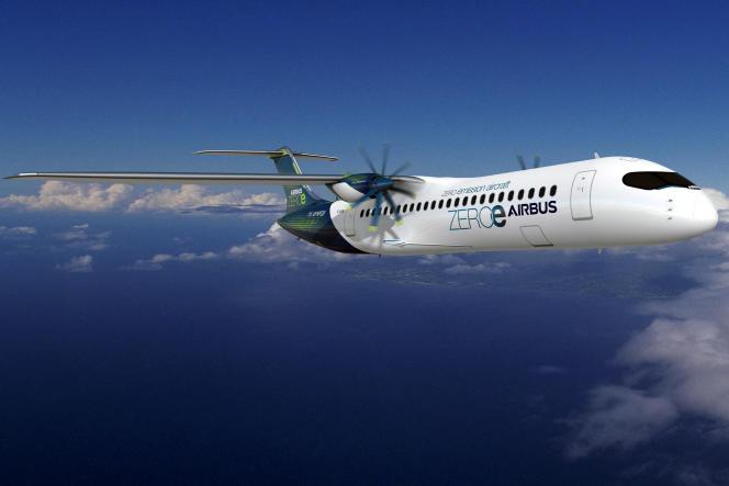 Prototype d'un Airbus à hydrogène, le 21 septembre 2020.