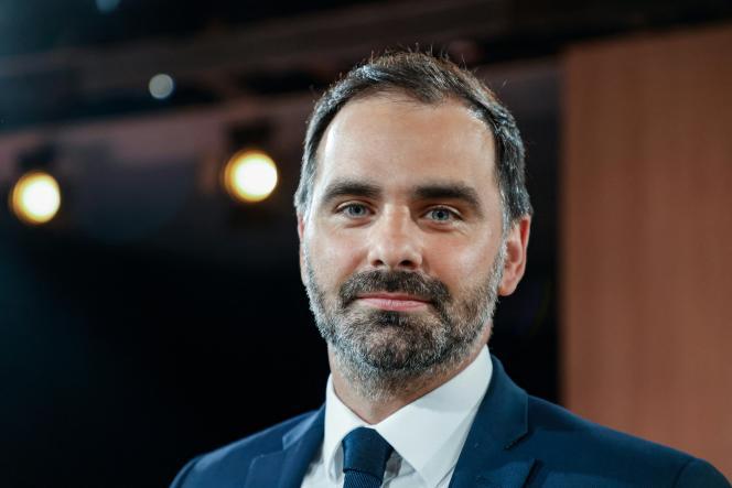 Laurent Saint-Martin, candidat LRM aux régionales en île-de-France, le 14 juin 2021, après un débat télévisé à Paris.