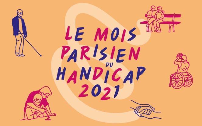 Affiche de la douzième édition du Mois parisien du handicap, qui se tient jusqu'au 10 juillet.