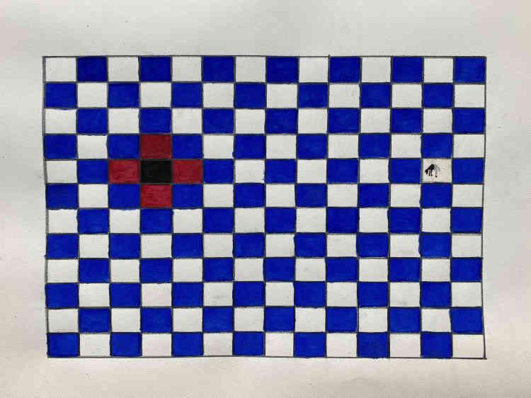 « Tapis peul bleu», de Saïdou Dicko, 2020.