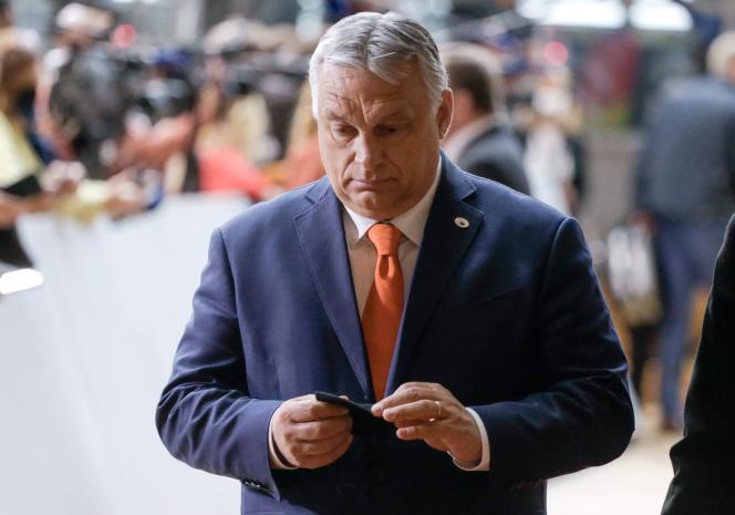 Le premier ministre hongrois, Viktor Orban, lors de son arrivée au sommet de l'Union europénne, à Bruxelles, le 24juin2021.