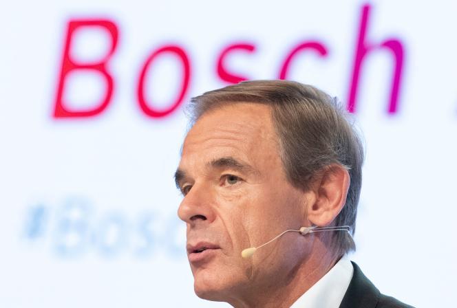 Volkmar Denner, patron de Bosch, à Renningen, en Allemagne, en avril 2018.