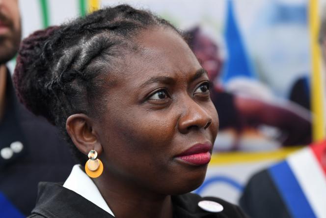La députée (LFI) Danièle Obono le 23 juin 2021 au tribunal de Paris.