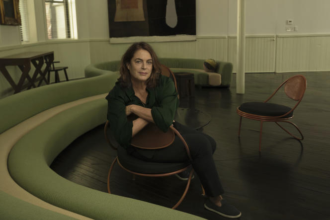 Maja Hoffmann, à l'origine de la Fondation Luma, à Arles (Bouches-du-Rhône), en mars 2021.