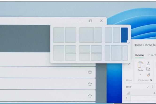 Il est possible de choisir une zone de l'écran où placer le logiciel.