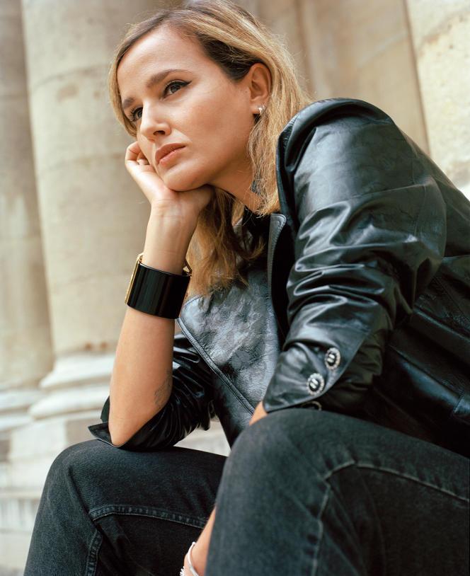 La réalisatrice Julia Ducournau, à Paris, le 21juin 2021.
