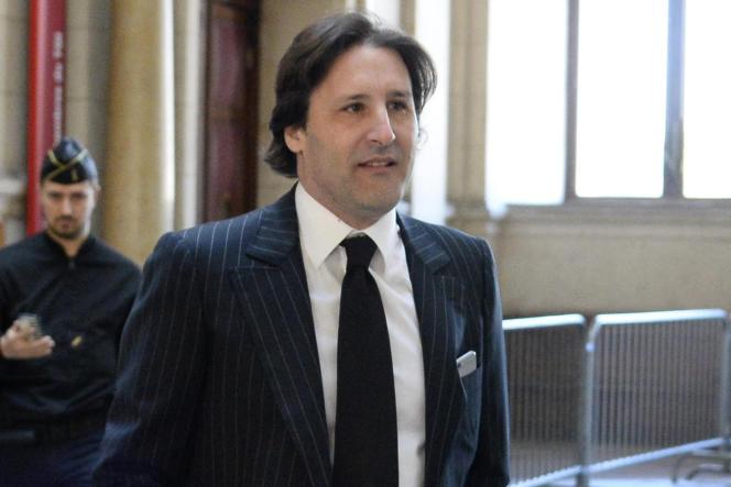 Arnaud Mimran au Palais de justice de Paris le 25 mai 2016.
