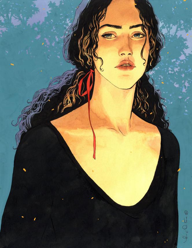 «Dessin d'affiche» (2021), de Luigi Critone. Aquarelle, 45 cm × 35 cm.