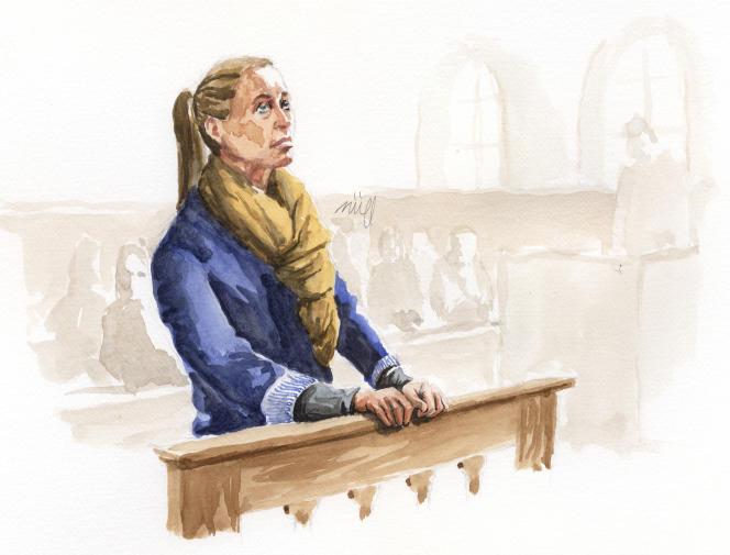 Valérie Bacot à la barre le 25 juin 2021, à la cour d'assises de Saône-et-Loire.