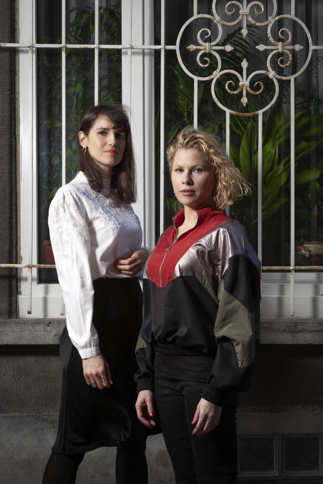 Myriam Leroy (à droite) et Florence Hainaut, auteurs du documentaire« #SalePute »