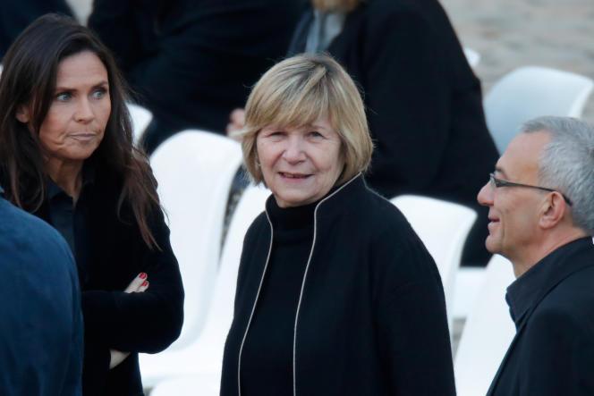 Michèle« Mimi»Marchand lors de la cérémonie d'hommage à Charles Aznavour, à Paris, le 5 octobre 2018.