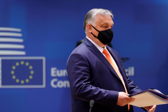 Le premier ministre hongrois Viktor Orban lors du sommet de l'UE,à Bruxelles, le 24 juin 2021.
