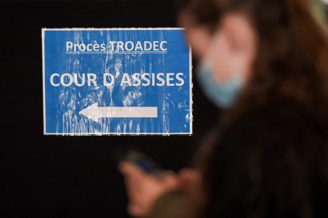 Au tribunal de Nantes, le 23 juin 2021, au deuxième jour du procès Troadec.