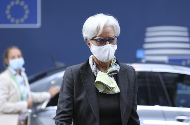La présidente de la Banque centrale européenne (BCE), Christine Lagarde, lors du sommet de l'Union européenne, àBruxelles, le 25 juin 2021.